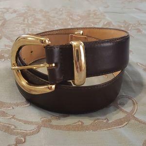 Omega Leather Belt